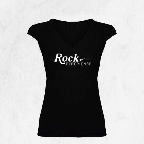 camiseta mujer rock experience | Escuela de música